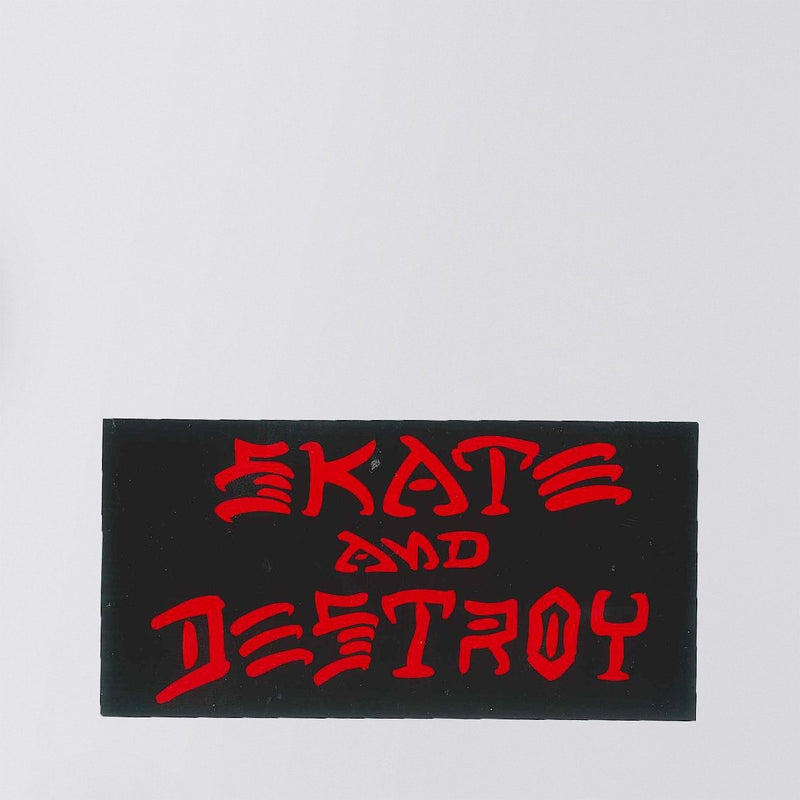 Thrasher Skate And Destroy Sticker Medium Black/Red - Skateboard