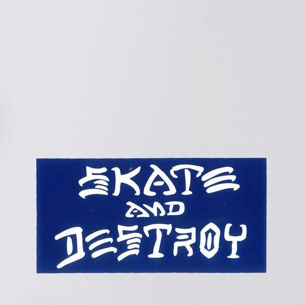 Thrasher Skate And Destroy Sticker Navy Blue/White Medium - Skateboard
