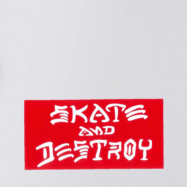 Thrasher Skate And Destroy Sticker Red/White Medium - Skateboard