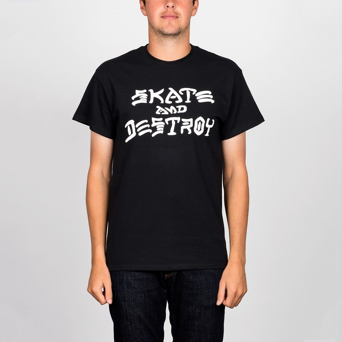 Thrasher Skate And Destroy Tee Black - Clothing