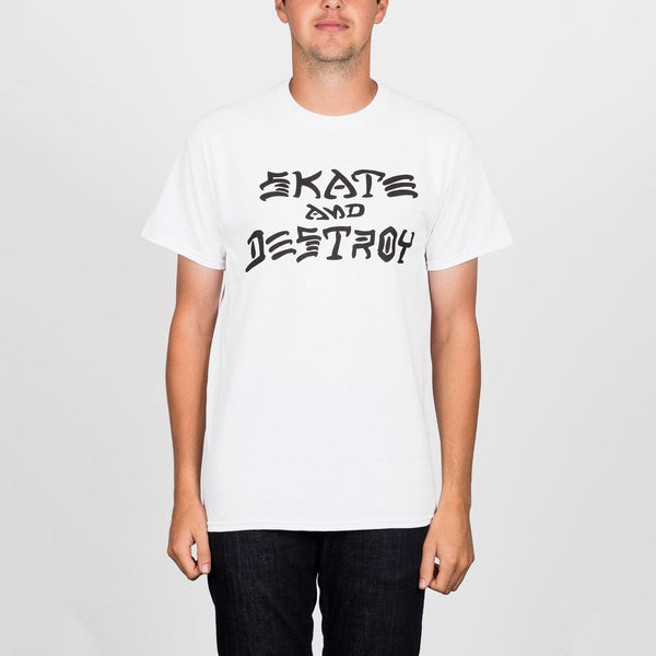 Thrasher Skate And Destroy Tee White - Clothing