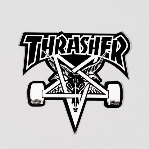 Thrasher Skate Goat Sticker Black/White Medium