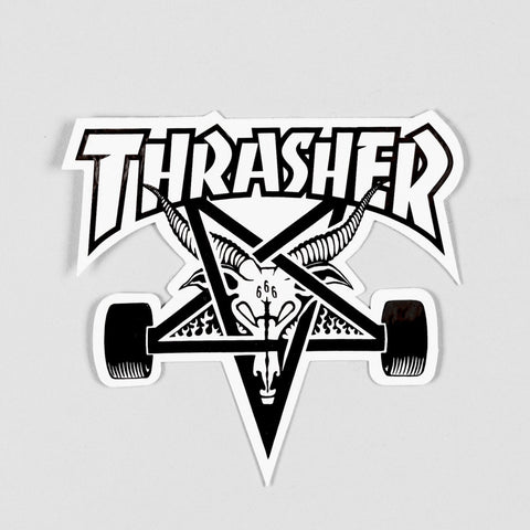 Thrasher Skate Goat Sticker White/Black Medium
