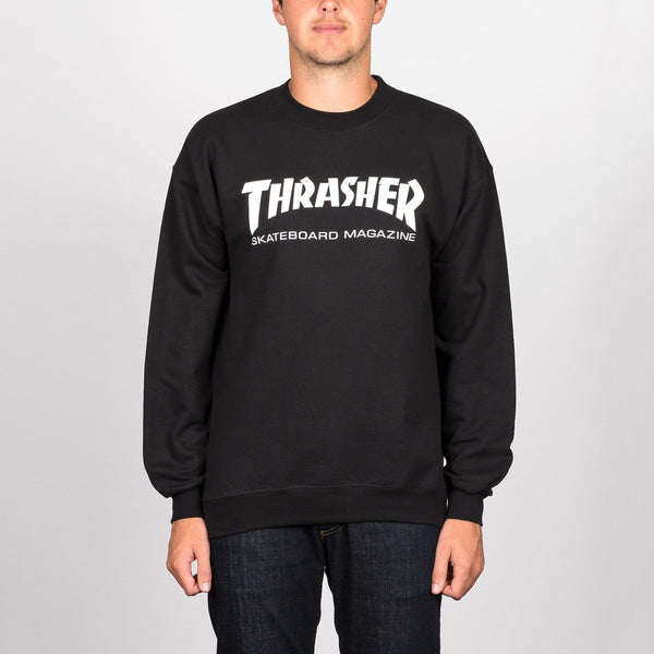 Thrasher Skate Mag Crew Sweat Black - Clothing
