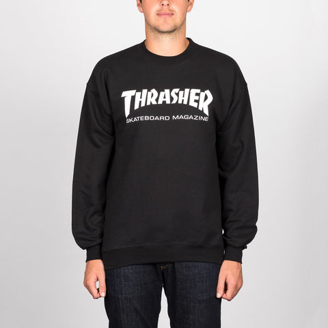 Thrasher Skate Mag Crew Sweat Black