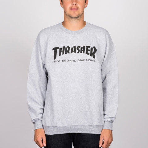 Thrasher Skate Mag Logo Crew Sweat Grey Heather