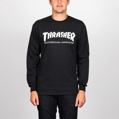 Thrasher Skate Mag Logo Long Sleeve Tee Black