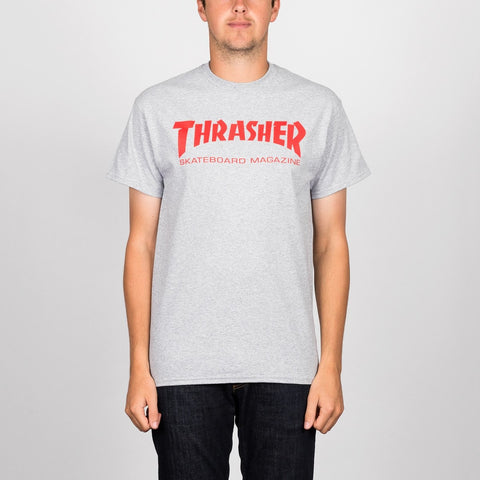 Thrasher Skate Mag Logo Tee Grey/Red