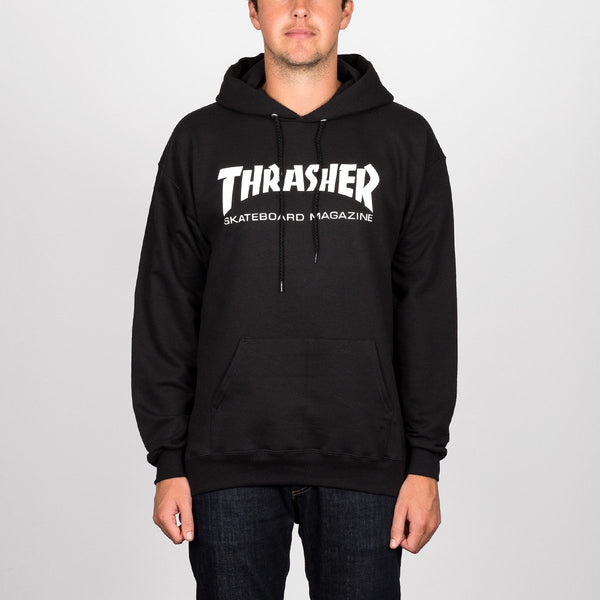 Thrasher Skate Mag Pullover Hood Black - Clothing