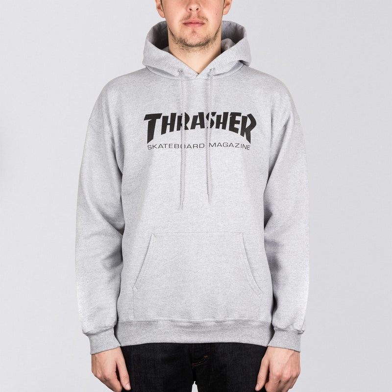 Thrasher Skate Mag Pullover Hood Heather Grey - Clothing