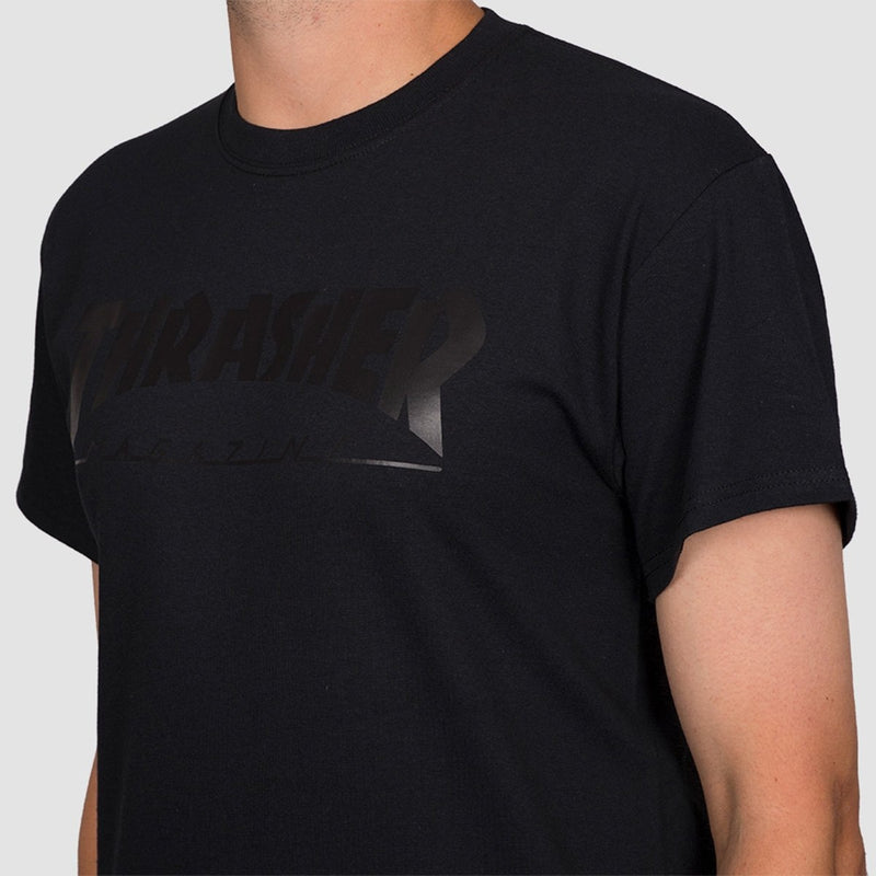 Thrasher Skate Mag Tee Black/Black - Clothing