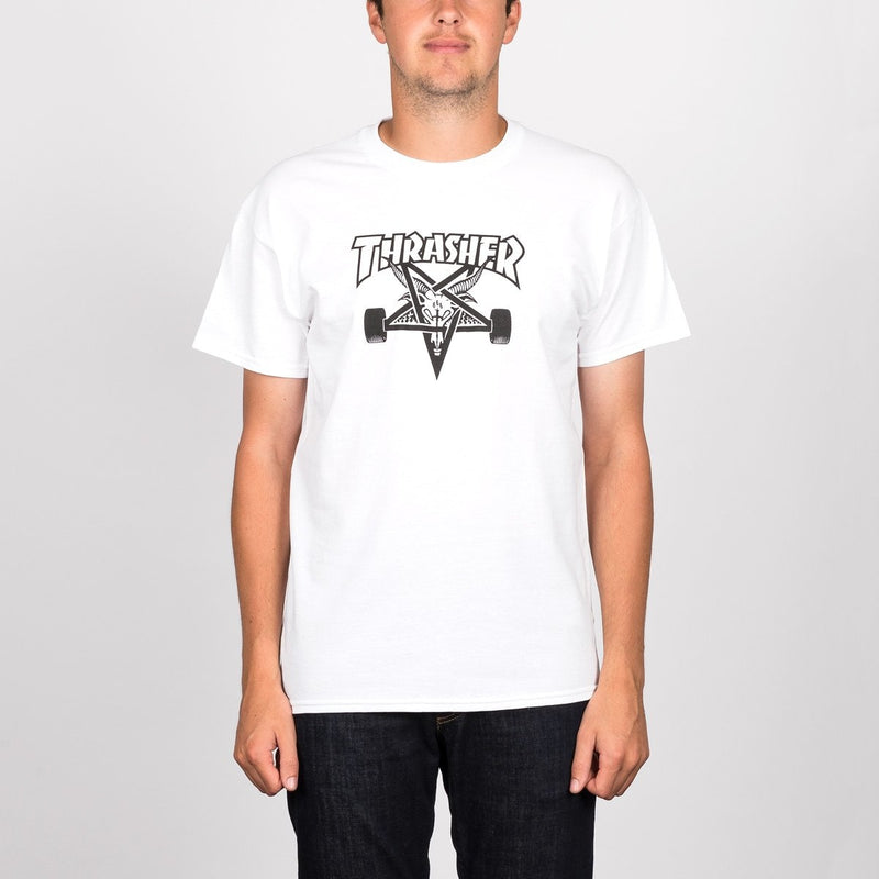Thrasher Skategoat Tee White - Clothing