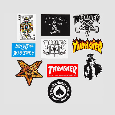 Thrasher Sticker Pack x10 Assorted