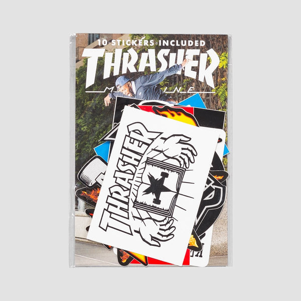 Thrasher Sticker Pack x10 Assorted - Skateboard