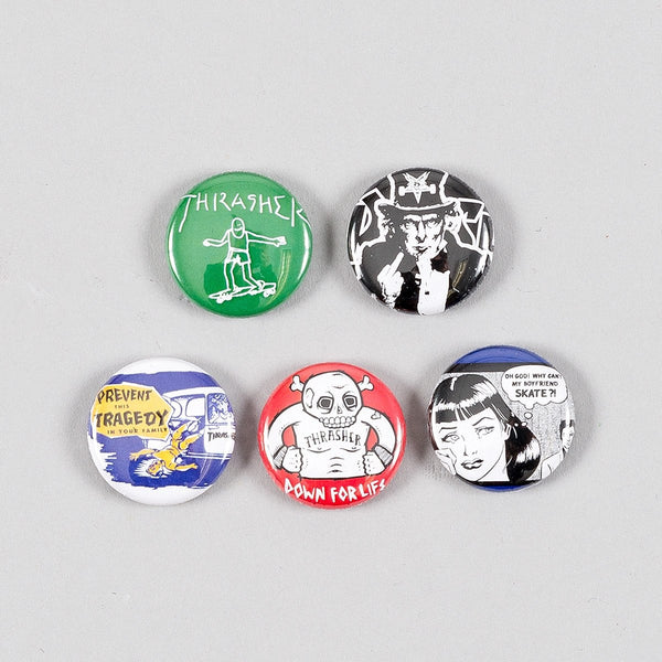 Thrasher Usual Suspects Button Badge Pack x5 - Accessories