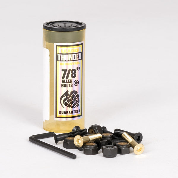 Thunder Allen Bolts x8 Black/Gold 7/8 Inch - Skateboard
