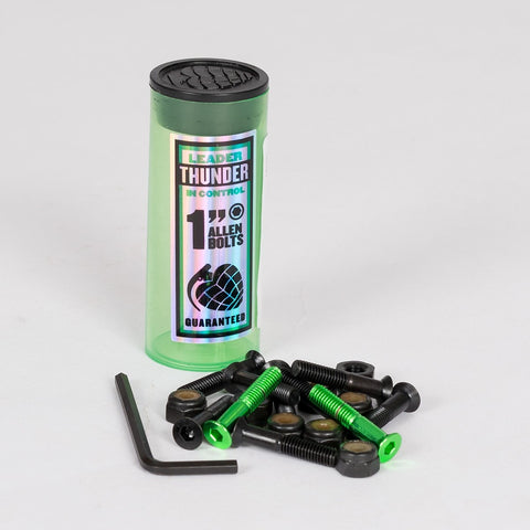 Thunder Allen Bolts x8 Black/Green 1 Inch
