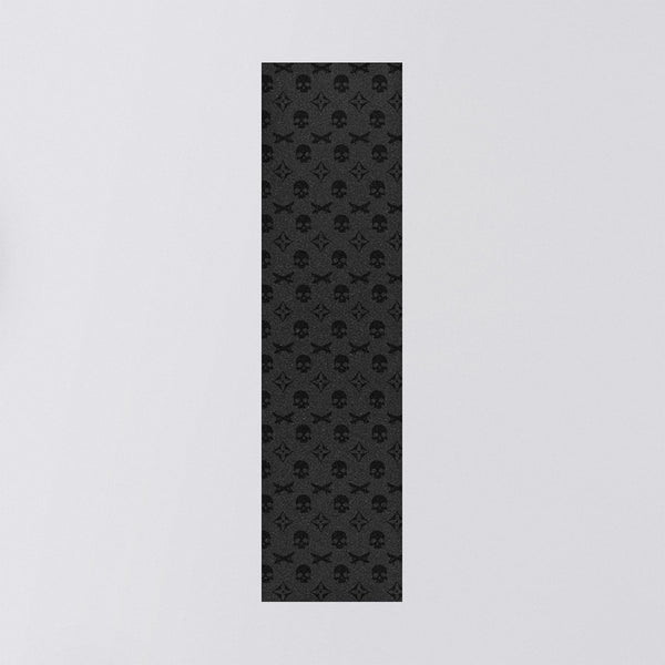 Truegrit Griptape Sheet Black Skull Monogram - 9 - Skateboard