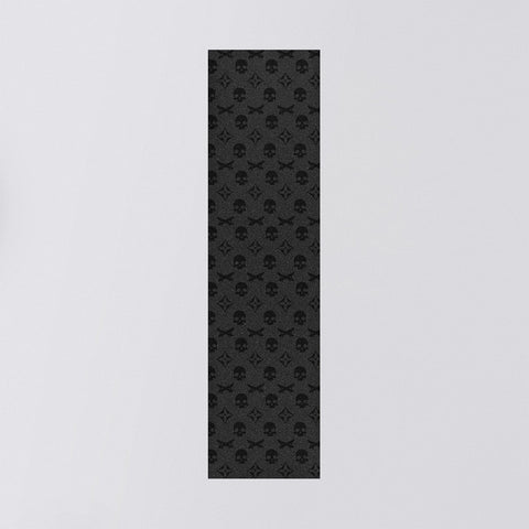 Truegrit Griptape Sheet Black Skull Monogram - 9""