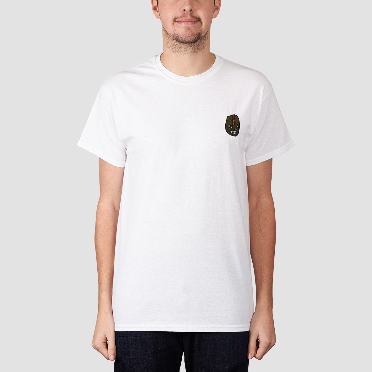 Unabomber Gimp Embroidered Tee White - Clothing