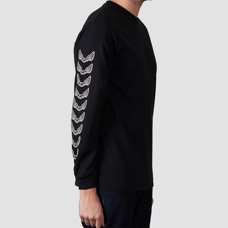 Unabomber Repeater Long Sleeve Tee Black - Clothing