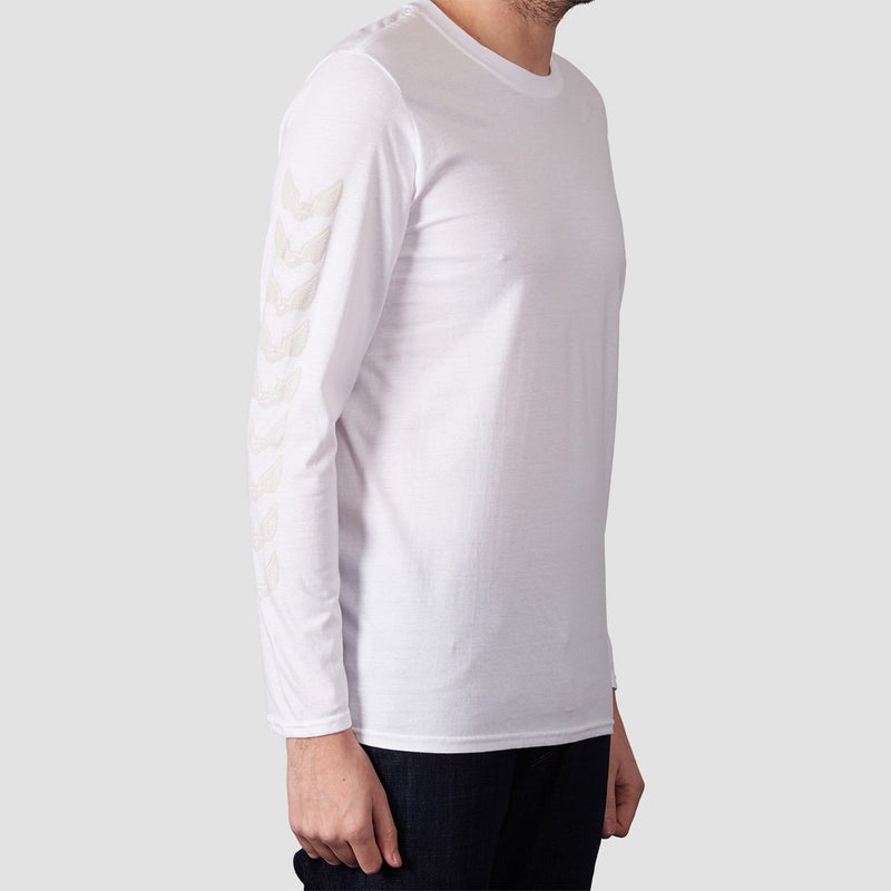 Unabomber Repeater Long Sleeve Tee White - Clothing
