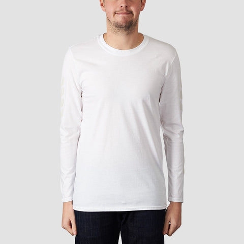 Unabomber Repeater Long Sleeve Tee White