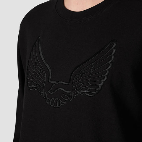Unabomber Tonal Wings Crew Sweat Black - Clothing