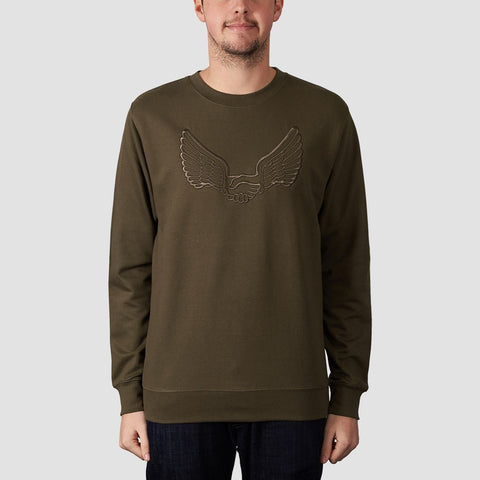 Unabomber Tonal Wings Crew Sweat Olive