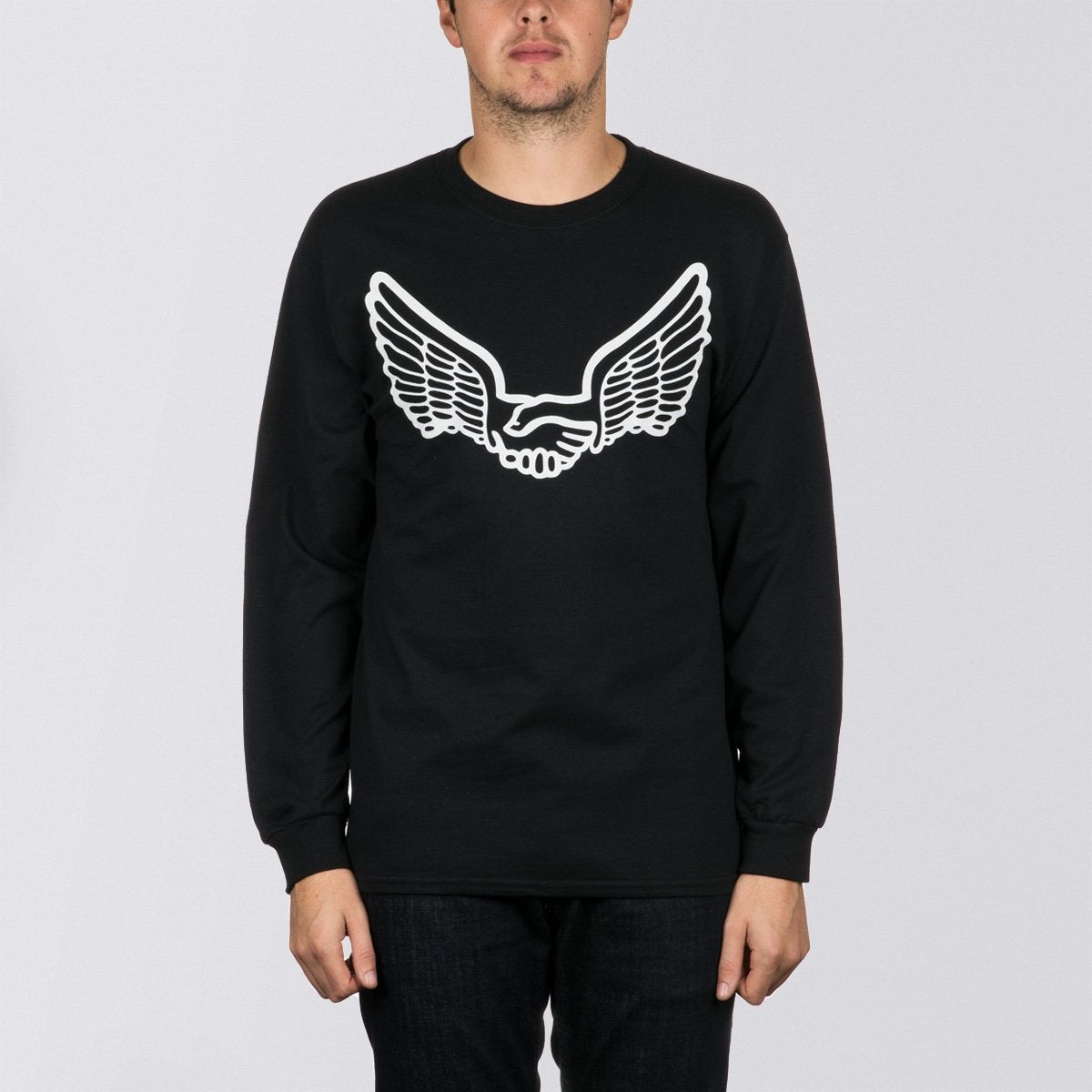 Unabomber Wings Long Sleeve Tee Black/White - Clothing
