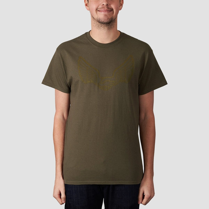 Unabomber Wings Tee Olive - Clothing