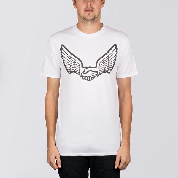 Unabomber Wings Tee White 3M Reflective - Clothing
