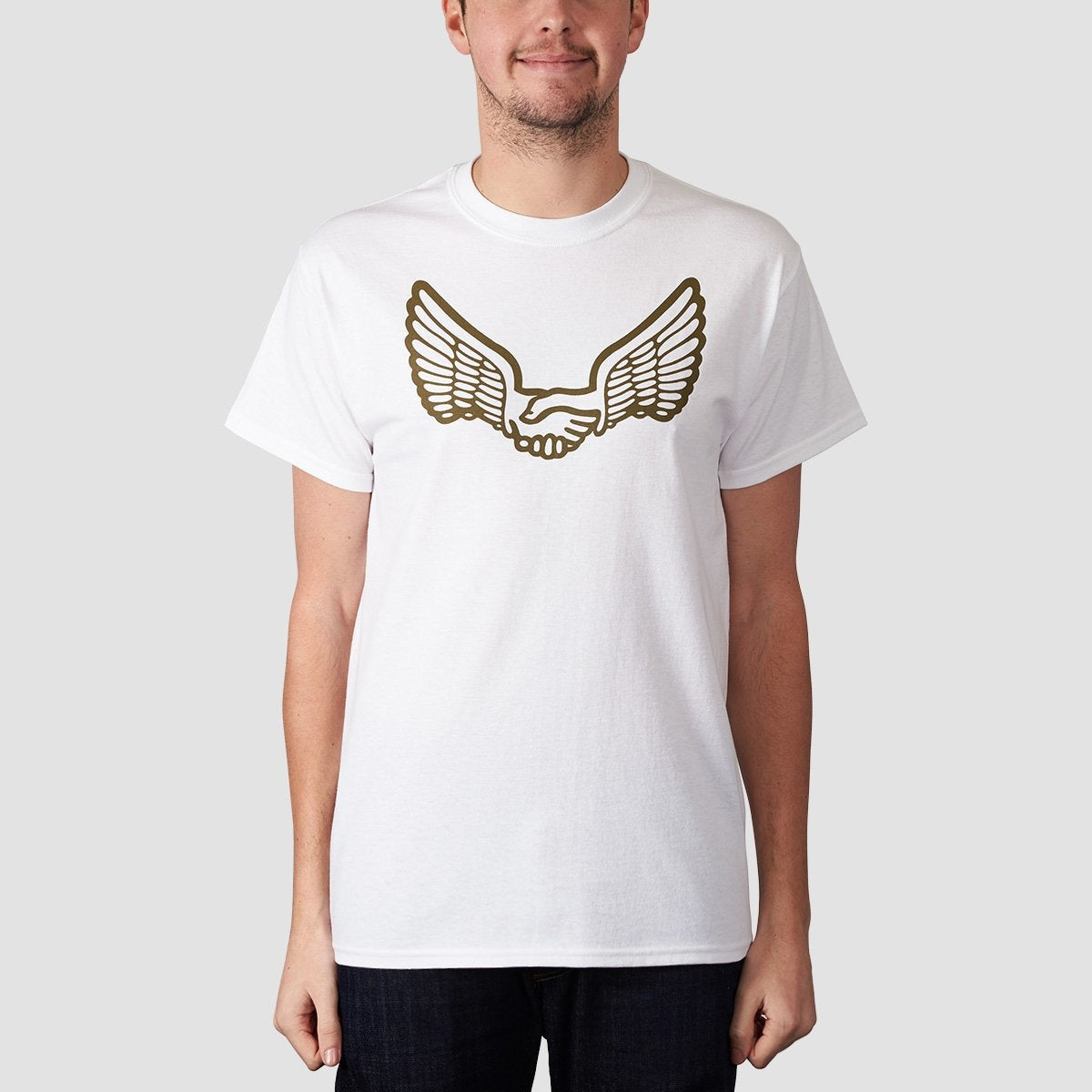 Unabomber Wings Tee White/Olive - Clothing