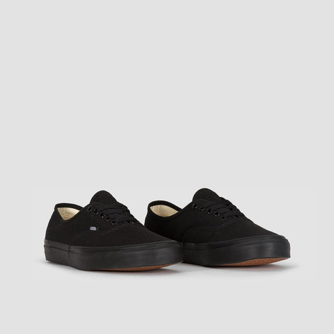 Vans Authentic Black/Black - Unisex L - Footwear