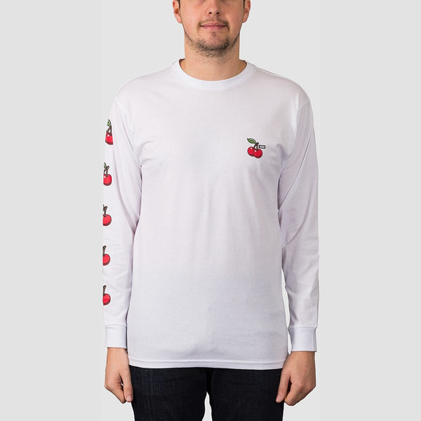 Vans Cherries Long Sleeve Tee White - Clothing