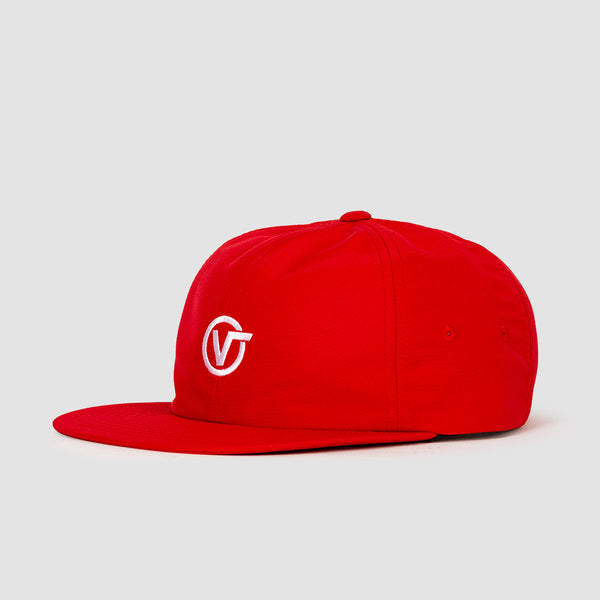 Vans Circle V Jockey Racing Cap Red