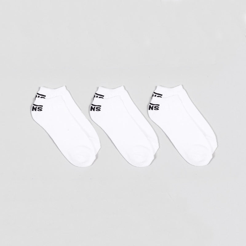 Vans Classic Low Socks 3 Pack White - Unisex - Accessories