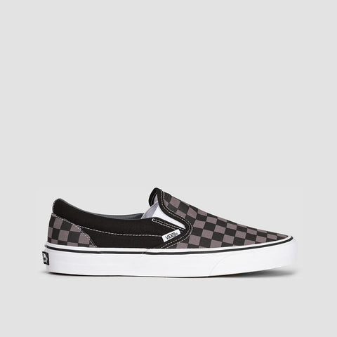 Vans Classic Slip-On Black/Pewter Checkerboard - Unisex L