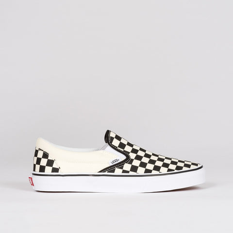 Vans Classic Slip On Black/White Checkerboard - Unisex L