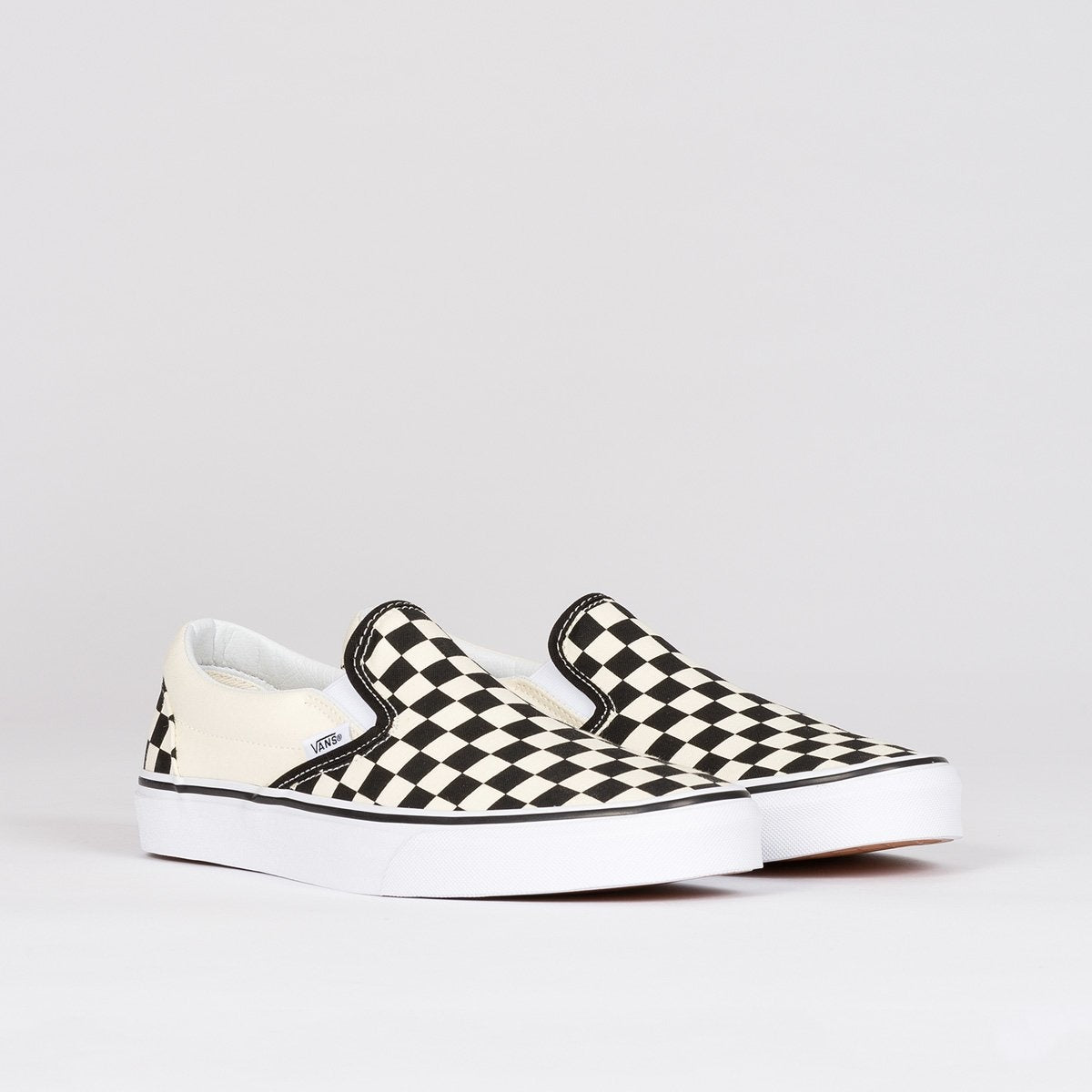 Vans Classic Slip On Black/White Checkerboard - Unisex L - Footwear