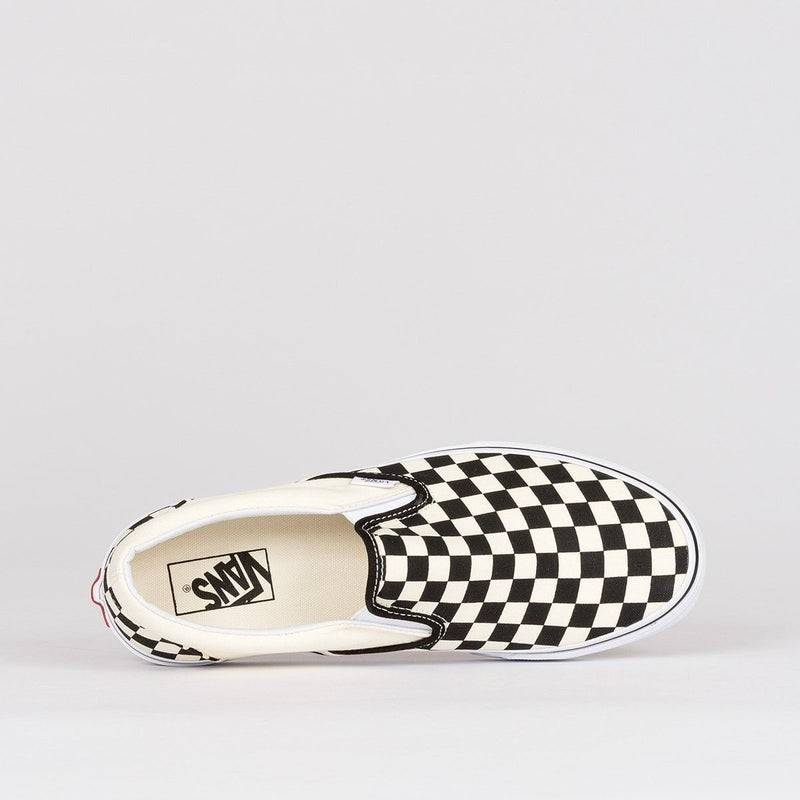 Vans Classic Slip-On Black/White Checkerboard - Unisex S - Footwear