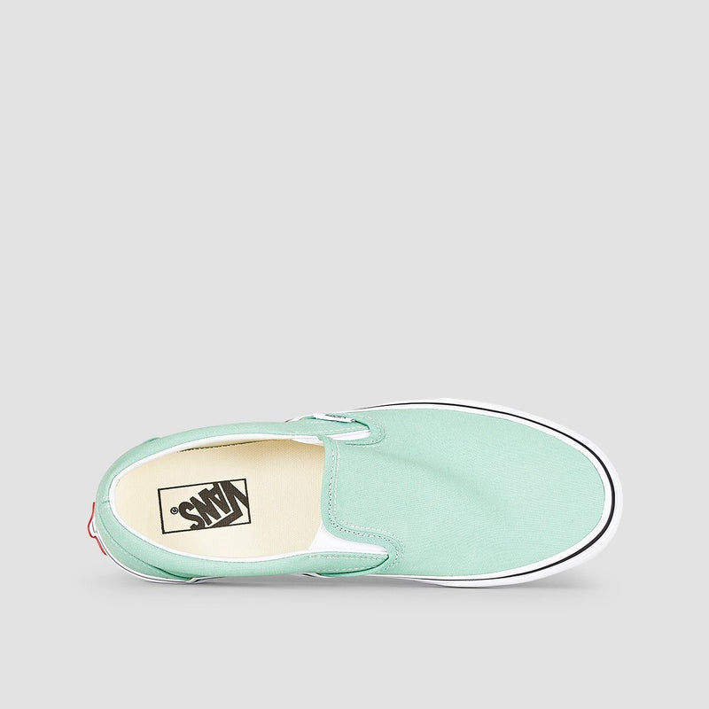 Vans Classic Slip-On Neptune Green/True White - Kids - Footwear