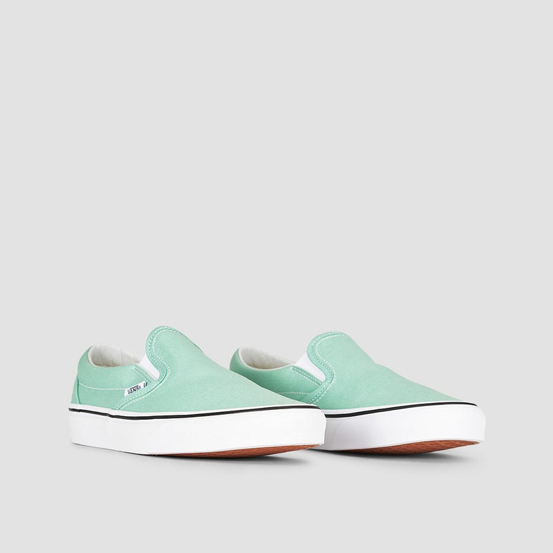 Vans Classic Slip-On Neptune Green/True White - Unisex L - Footwear