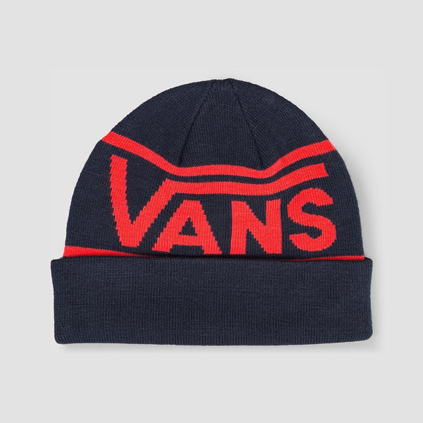 Vans Drop V Stripe Cuff Beanie Dress Blues - Accessories