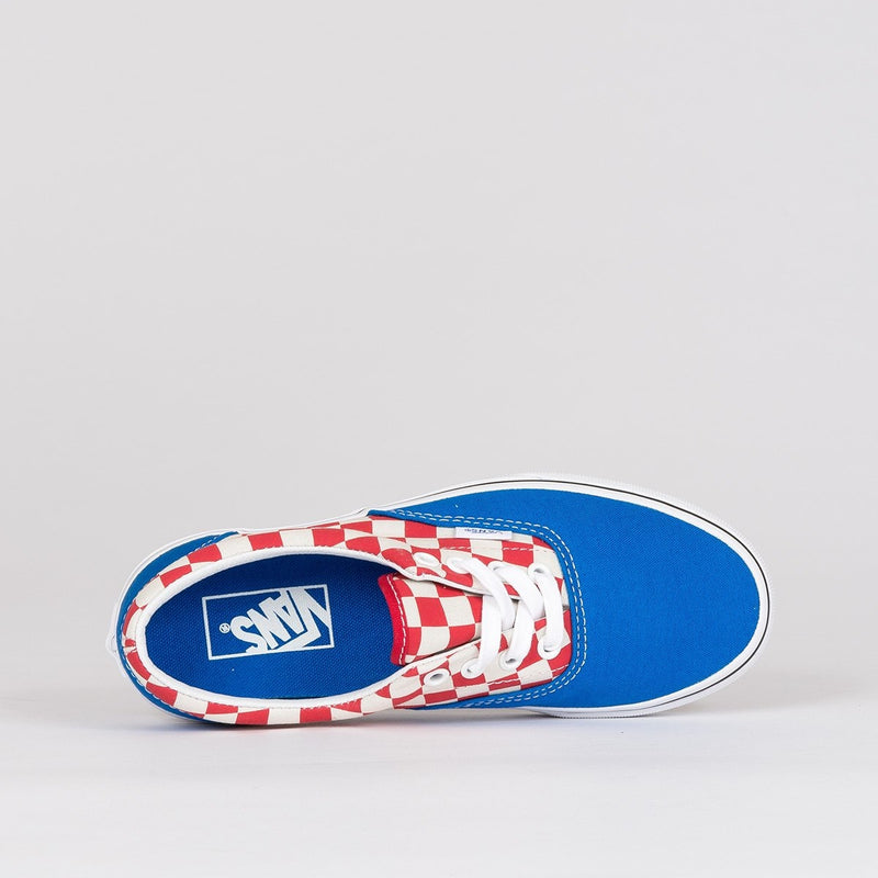 Vans Era 2-Tone Check/Imperial Blue/True White - Kids - Footwear