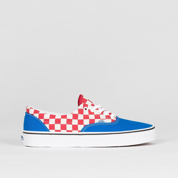 Vans Era 2-Tone Check/Imperial Blue/True White - Unisex L - Footwear