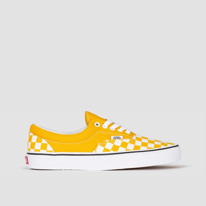Vans Era Checkerboard Yolk Yellow/True White - Unisex L - Footwear