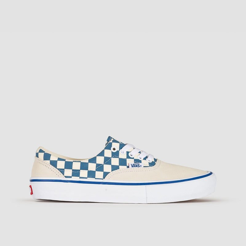 Vans Era Pro Checker Classic White/Blue Ashes - Footwear