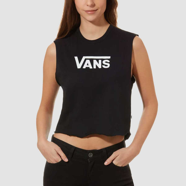 Vans Flying V Classic Muscle Tank Vest Black - Womens