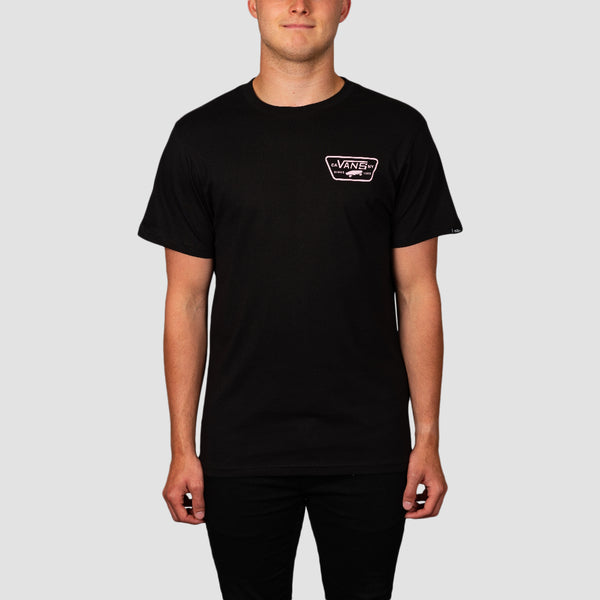 Vans Full Patch Back Tee Black/Vans Cool Pink
